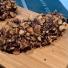 Skumraket med hackade hasselnötter
