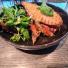 Grillsmörgås med grönsallad